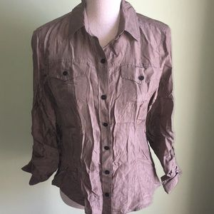 Banana Republic 100% Silk Button Down Shirt